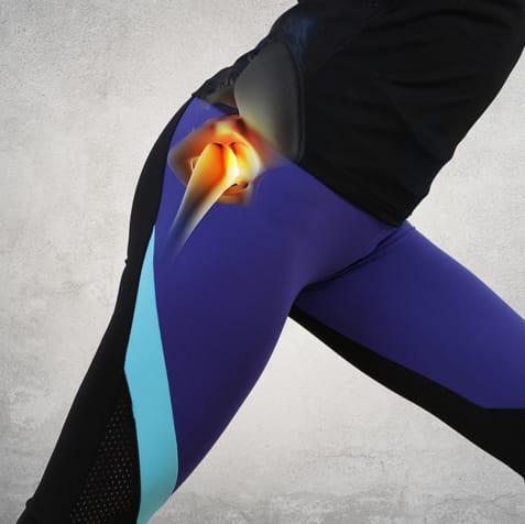 runner stretching showing hip socket