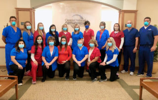 central nebraska orthopedic staff photo with masks